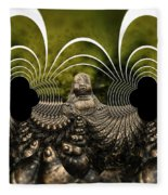 Buddha Fractal Fleece Blanket