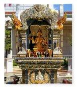 Buddha Shrine Fleece Blanket