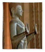 Buddha Vientienne Laos Fleece Blanket