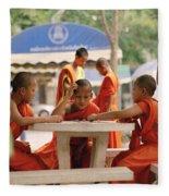 Buddhist Childhood Fleece Blanket