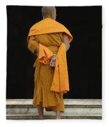 Buddhist Monk 1 Fleece Blanket
