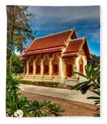 Buddhist Temple Fleece Blanket