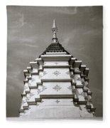 Buddhist Temple Wat Luang In Chiang Khong In Thailand Fleece Blanket