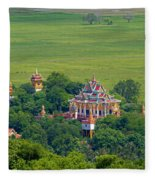 Buddist Temple Fleece Blanket
