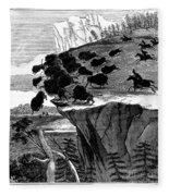 Buffalo Hunt, 1834 Fleece Blanket