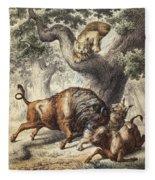 Buffalo & Lynx Fleece Blanket