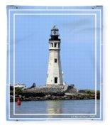 Buffalo Main Lighthouse Fleece Blanket