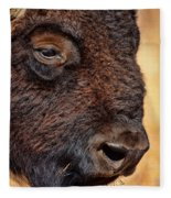Buffalo Up Close Fleece Blanket