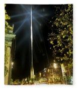 Buildings Lit Up At Night, Oconnell Fleece Blanket