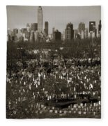 Buildings Fleece Blanket