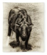 Bull Fleece Blanket