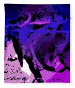 Bull On The Move Fleece Blanket