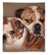 Bulldogs Fleece Blanket