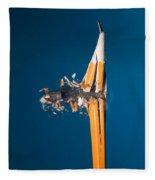 Bullet Hitting A Pencil Fleece Blanket