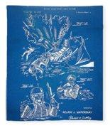 Bulletproof Patent Artwork 1968 Figures 18 To 20 Fleece Blanket