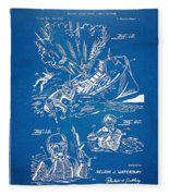 Bulletproof Patent Artwork 1968 Figures 18 To 20 Fleece Blanket