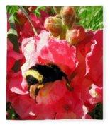 Bumblebee And Snapdragon Fleece Blanket