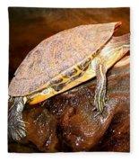 Bump On A Log Fleece Blanket