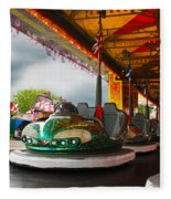 Bumper Cars Fleece Blanket