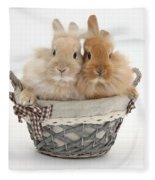 Bunnies A Basket Fleece Blanket