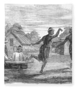 Burma: Dance, 1853 Fleece Blanket