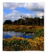 Burmarigold Bliss Fleece Blanket