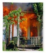 Burning House Fleece Blanket
