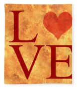 Burning Love Fleece Blanket