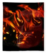 Burning Man Fleece Blanket