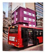 Bus Stop - La Coruna Fleece Blanket