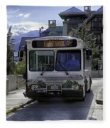 Bus To East Vail - Colorado Fleece Blanket