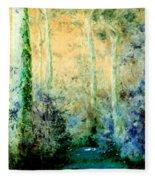 Bush Trail At Sunrise Fleece Blanket