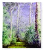 Bush Trail At The Afternoon Fleece Blanket