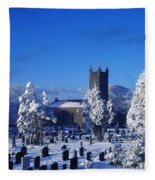 Bushmills Church, County Antrim Fleece Blanket