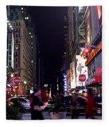 Busy Sidewalks Of The City Fleece Blanket