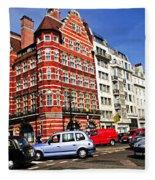 Busy Street Corner In London Fleece Blanket