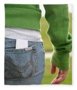 Butt Fleece Blanket