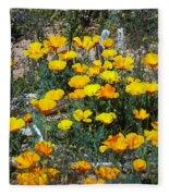 Buttercups In The Desert Fleece Blanket