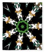 Butterflies Mania Kaleidoscope Fleece Blanket