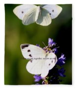 Butterfly - Cabbage White - As One Fleece Blanket