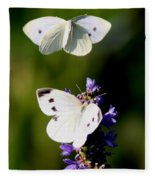 Butterfly - Visiting Fleece Blanket