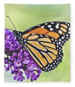 Butterfly Beauty-monarch Fleece Blanket