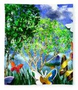 Butterfly Dance Fleece Blanket