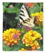 Butterfly Dining Bdwc Fleece Blanket