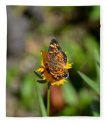 Butterfly Gold Fleece Blanket