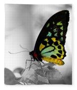 Butterfly Leaves Fleece Blanket