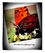 Butterfly Note Card Fleece Blanket