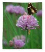 Butterfly On Clover Fleece Blanket