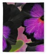 Butterfly Pansies Fleece Blanket