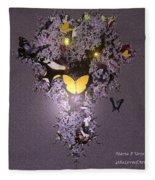 Butterfly Paradise Fleece Blanket